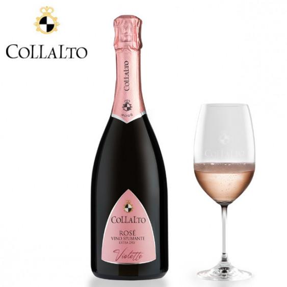 """COLLALTO Rosé Spumante Extra Dry """"Violette"""" - 75 cl"""
