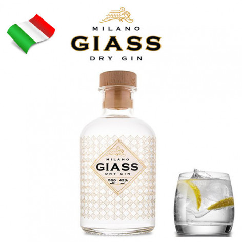 Gin GIASS Milano Dry Gin - 500 ml