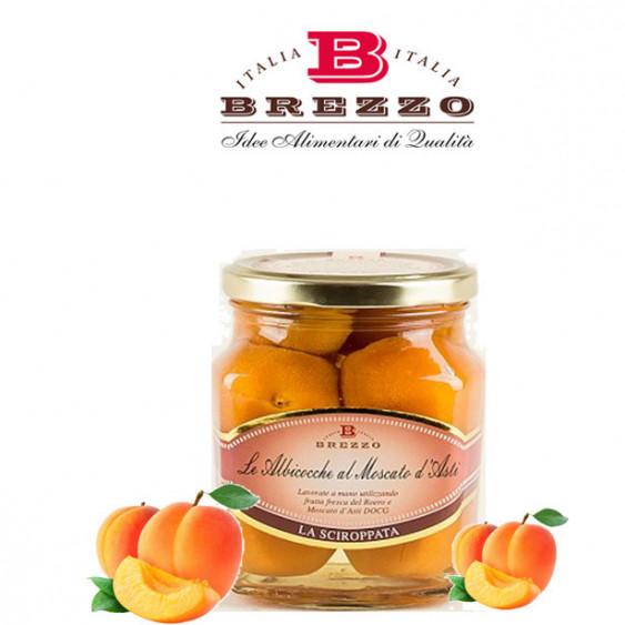 BREZZO - Albicocche al moscato d'Asti - 600 gr