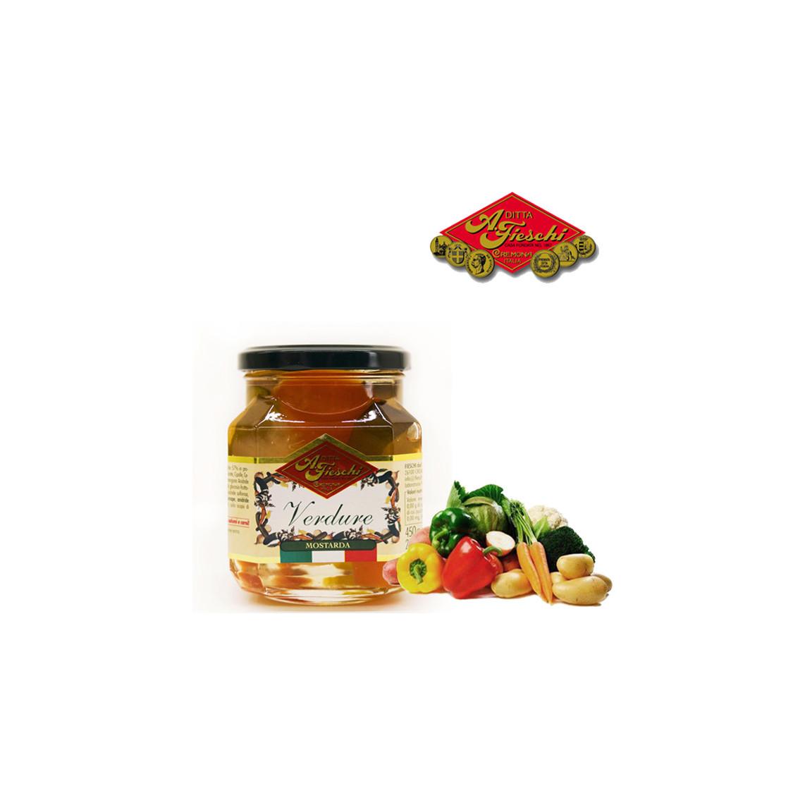 Mostarda FIESCHI di verdure 450gr.