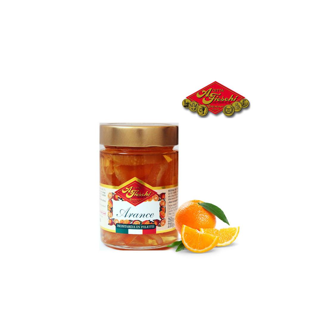 Mostarda filetti di arancia FIESCHI - 350 gr.