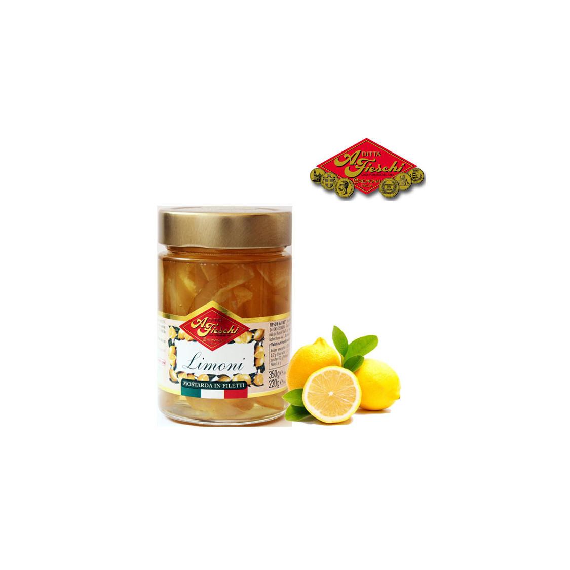 Mostarda filetti di limone FIESCHI - 350 gr.