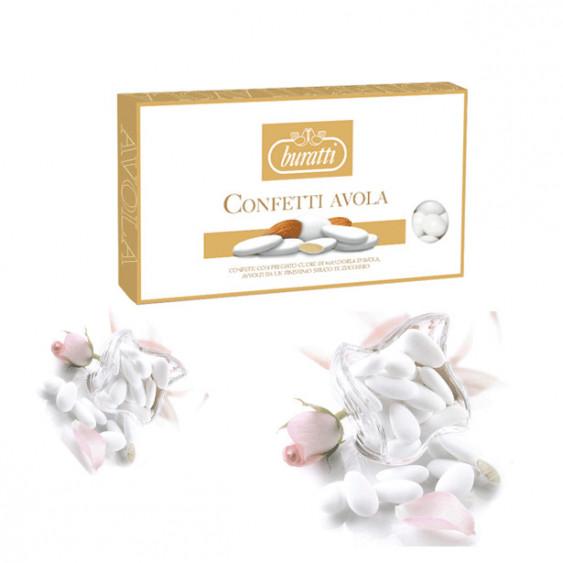 BURATTI Confetti mandorla AVOLA REGINA Kg.1 bianchi